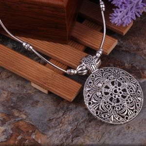Jewelry - GYPSY CARVED METAL NECKLACE